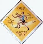 Stamps Hungary -  Intercambio jxi 0,20 usd 1 ft. 1964