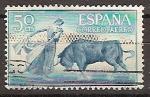 Stamps Spain -  ESPAÑA SEGUNDO CENTENARIO USD Nº 1267 (0) 50P AZUL CELESTE TOROS