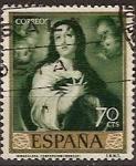 Sellos de Europa - España -  ESPAÑA SEGUNDO CENTENARIO USD Nº 1273 (0) 70C VERDE MURILLO