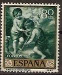 Sellos de Europa - España -  ESPAÑA SEGUNDO CENTENARIO USD Nº 1274 (0) 80C VERDE MURILLO