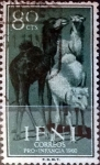 Stamps Spain -  Intercambio jxi 0,25 usd 80 cents. 1960