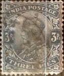 Sellos de Asia - India -  Intercambio 0,20 usd 3 pies 1911