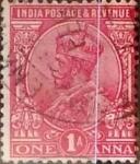 Sellos de Asia - India -  Intercambio 0,20 usd 1 anna 1911