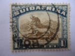Stamps : Africa : South_Africa :  Suid-Afrika- Animales Salvajes-Ñú (1927)