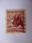 Stamps : Africa : South_Africa :  Suid-Afrika- Animales Salvajes-Ñú (s/200)