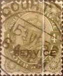 Stamps : Asia : India :  Intercambio 0,55 usd 4 anna 1911
