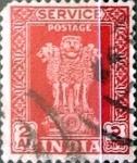Sellos de Asia - India -  Intercambio 0,40 usd 2 anna 1950