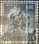 Stamps : Asia : India :  Intercambio 3,25 usd 6 p. 1966