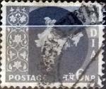 Stamps : Asia : India :  Intercambio 0,20 usd 6 n.p. 1957