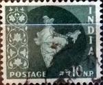 Stamps : Asia : India :  Intercambio 0,20 usd 10 n.p. 1957
