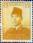 Stamps : Asia : Indonesia :  Intercambio 0,20 usd 15 rupias1951