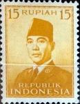 Sellos de Asia - Indonesia -  Intercambio 0,20 usd 15 rupias 1951
