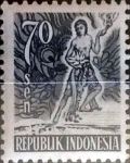 Stamps : Asia : Indonesia :  Intercambio 0,20 usd 70 sen 1951