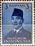 Stamps : Asia : Indonesia :  Intercambio 0,20 usd 3 rupias 1951