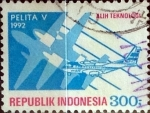 Stamps : Asia : Indonesia :  Intercambio 0,20 usd 300 rupias 1992