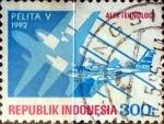 Stamps Indonesia -  Intercambio 0,20 usd 300 rupias 1992