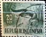 Stamps : Asia : Indonesia :  Intercambio 0,20 usd 20 sen 1956