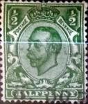 Stamps United Kingdom -   1/2 p. 1912