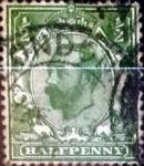 Sellos de Europa - Reino Unido -  Intercambio 4,50 usd 1/2 p. 1911