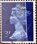Stamps : Europe : United_Kingdom :  Intercambio 0,20 usd 3 p. 1973