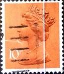 Stamps United Kingdom -  Intercambio 0,30 usd 10 p. 1976