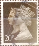 Sellos de Europa - Reino Unido -  Intercambio 0,90 usd 20 p. 1990