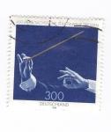 sellos de Europa - Alemania -  450 años de la orquesta Staatskapelle Dresden
