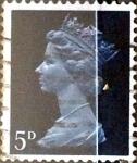 Stamps United Kingdom -  Intercambio 0,20 usd 5 p. 1968