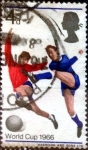Stamps : Europe : United_Kingdom :  Intercambio 0,20 usd 4 p. 1966