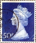 Sellos de Europa - Reino Unido -  Intercambio 0,60 usd 50 p. 1970