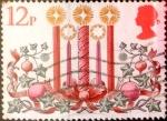 Sellos de Europa - Reino Unido -  Intercambio 0,30 usd 12 p. 1980