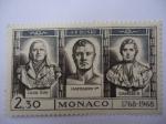 Stamps : Europe : Monaco :  Esculturas de J. F. Bosio.