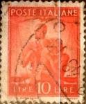 Sellos de Europa - Italia -  Intercambio 0,20 usd 10 liras 1947