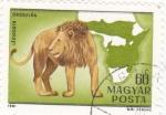 Sellos de Europa - Hungría -  mapa de Africa y león