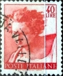 Sellos de Europa - Italia -  Intercambio 0,20 usd 40 liras 1961