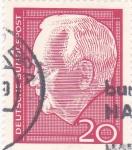Stamps Germany -  presidenteTheodor Heuss