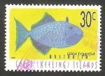 Sellos de Oceania - Australia -  Islas Cocos - 331 - Pez xanthichthys auromarginatus