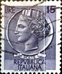 Sellos de Europa - Italia -  Intercambio 0,20 usd 15 liras 1956