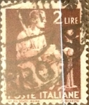 Sellos de Europa - Italia -  Intercambio 0,20 usd 2 liras 1945