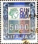 Stamps : Europe : Italy :  Intercambio crf 0,65 usd 5000 liras 1978