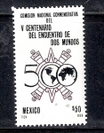 Sellos de America - México -  Comisión Conmemorativa del V Centenario del Encuentro de Dos Mundos