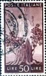 Stamps Italy -  Intercambio 0,20 usd 50 liras 1945