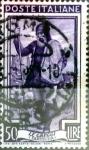 Sellos de Europa - Italia -  Intercambio 0,20 usd 50 liras 1950