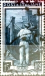 Stamps Italy -  Intercambio 0,20 usd 15 liras 1950