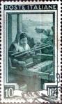 Sellos de Europa - Italia -  Intercambio 0,20 usd 10 liras 1950