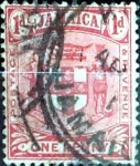 Stamps : America : Jamaica :  Intercambio 0,20 usd one penny 1906