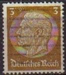 Sellos del Mundo : Europa : Alemania : DEUTSCHES REICH 1933 Scott416 SELLO 85 Cumpleaños de Von Hindenburg Usado ALEMANIA Michel513