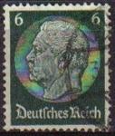 Sellos del Mundo : Europa : Alemania : DEUTSCHES REICH 1933 Scott419 SELLO 85 Cumpleaños de Von Hindenburg Usado ALEMANIA Michel516
