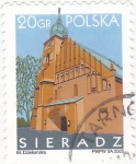 Stamps Poland -   catedral de Sieradz
