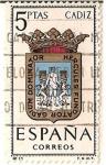 Stamps Spain -  Correos España / Cadiz / 5 pecetas